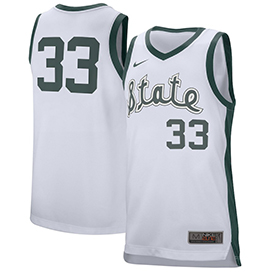 #33 Michigan State Spartans Nike Retro Performance College Basketball Jersey