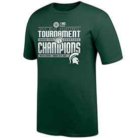 Spartans Top of the World 2019 Big Ten Men's Basketball Conference Tournament Champions Locker Room T-Shirt