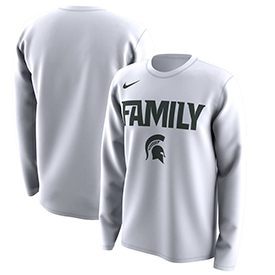 Spartans Nike March Madness Family on Court Legend Basketball Performance Long Sleeve T-Shirt